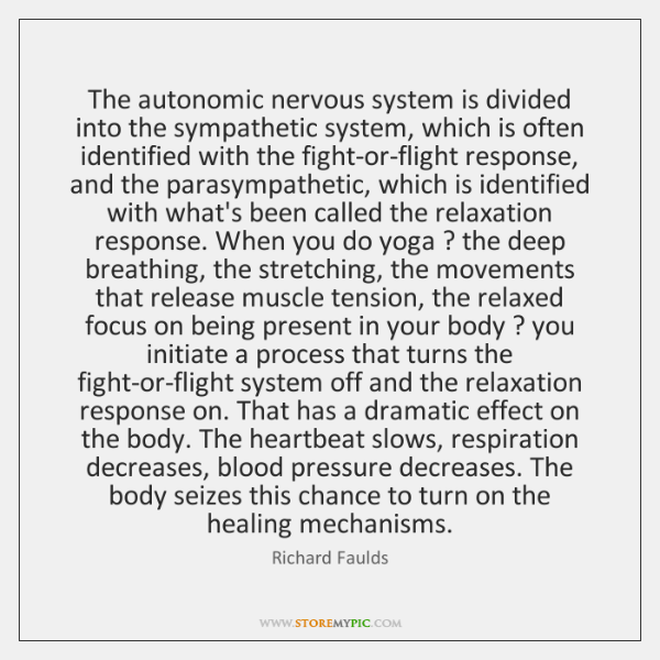 The autonomic nervous system is divided into the sympathetic system, which is ...