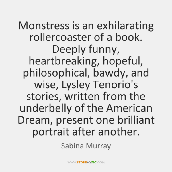 Monstress is an exhilarating rollercoaster of a book. Deeply funny, heartbreaking, hopeful, ...