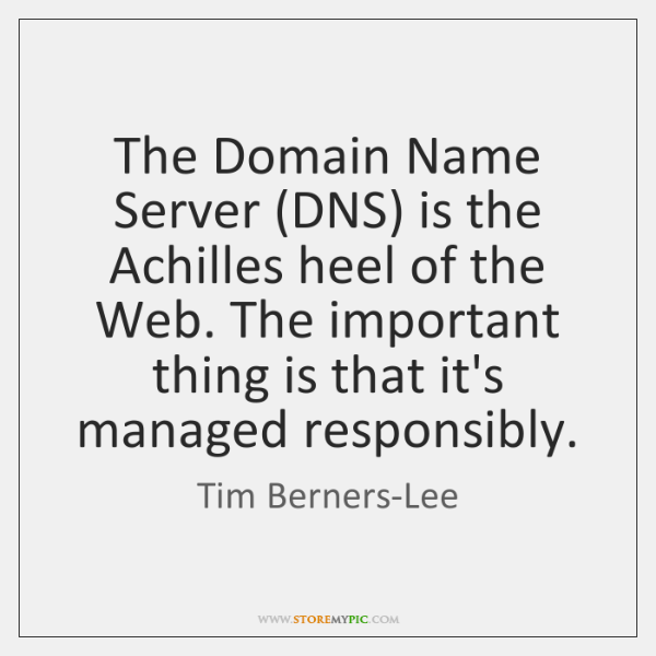 The Domain Name Server (DNS) is the Achilles heel of the Web. ...