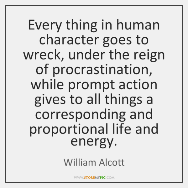 Every thing in human character goes to wreck, under the reign of ...