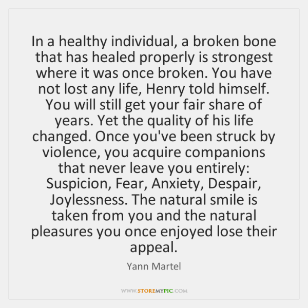 In a healthy individual, a broken bone that has healed properly is ...
