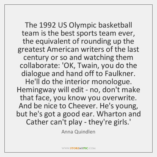 The 1992 US Olympic basketball team is the best sports team ever, the ...