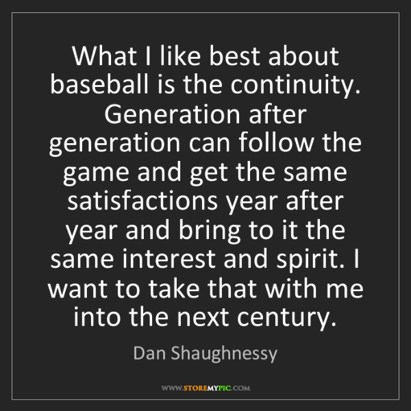 Dan Shaughnessy: What I like best about baseball is the continuity. Generation...