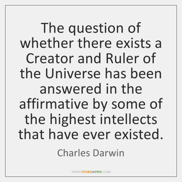 the question of creation Only christian faith as a whole constitutes the answer to this question: the goodness of creation, the drama of sin and the patient love of god who comes to meet man.