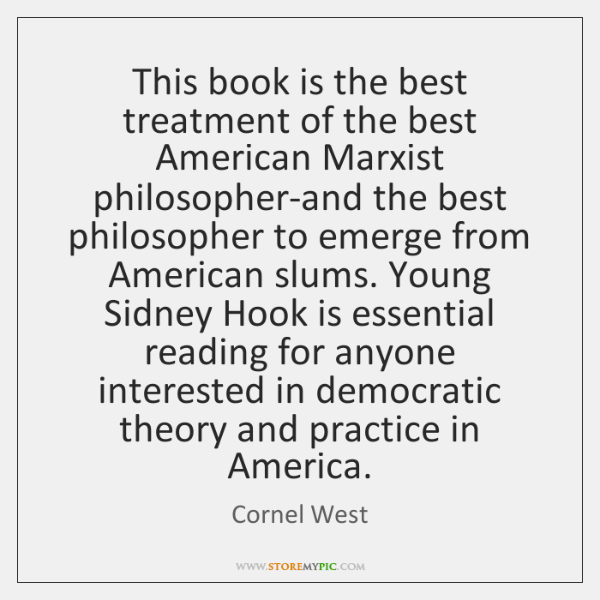 This book is the best treatment of the best American Marxist philosopher-and ...