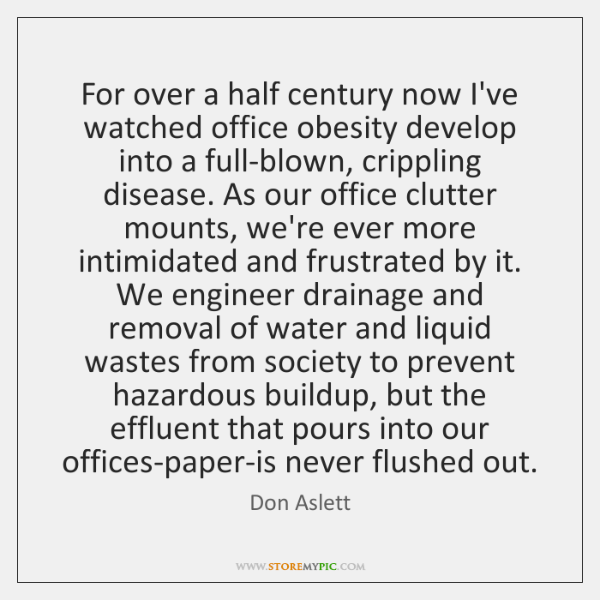 For over a half century now I've watched office obesity develop into ...