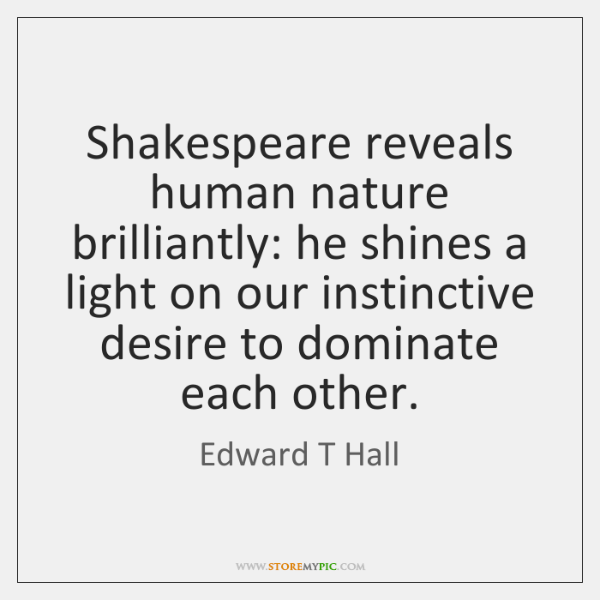 human nature shakespeare
