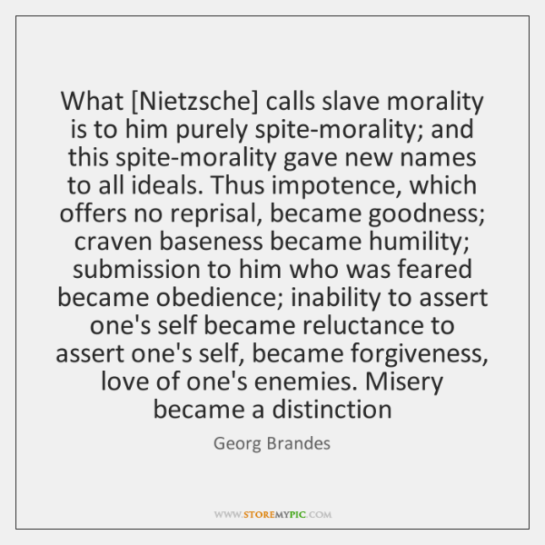what is slave morality