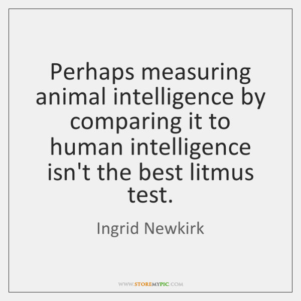 Perhaps measuring animal intelligence by comparing it to human intelligence isn't the ...