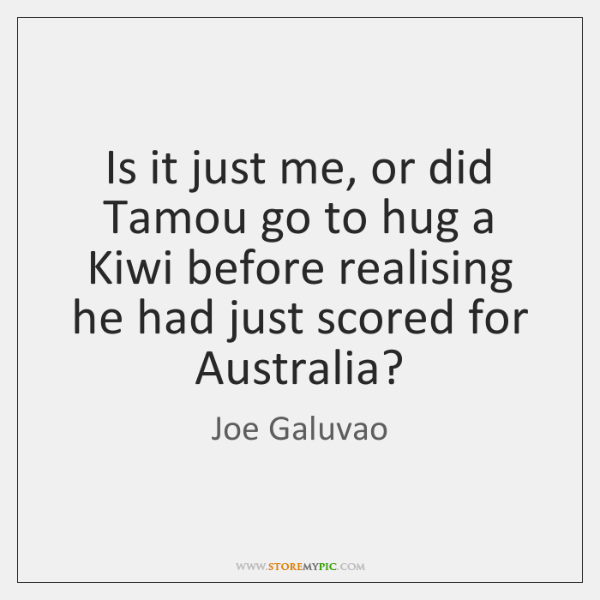 Is it just me, or did Tamou go to hug a Kiwi ...