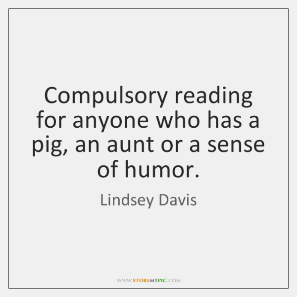 Compulsory reading for anyone who has a pig, an aunt or a ...