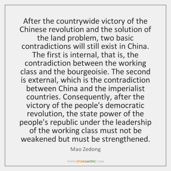 After the countrywide victory of the Chinese revolution and the solution of ...