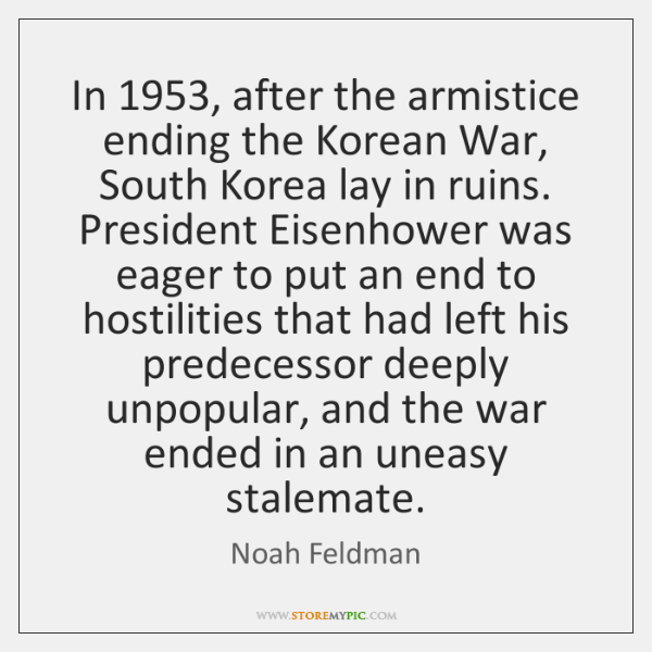 In 1953, after the armistice ending the Korean War, South Korea lay in ...