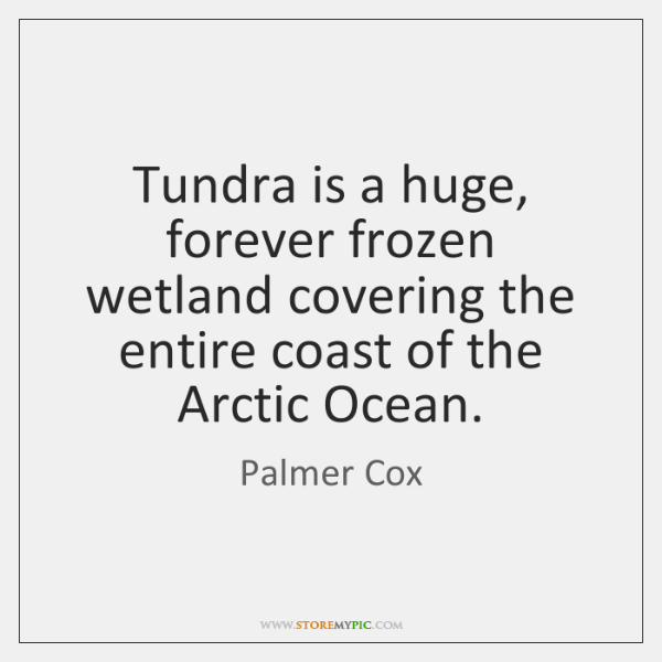 Tundra is a huge, forever frozen wetland covering the entire coast of ...