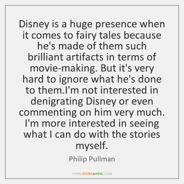 Disney Is A Huge Presence When It Comes To Fairy Tales Because