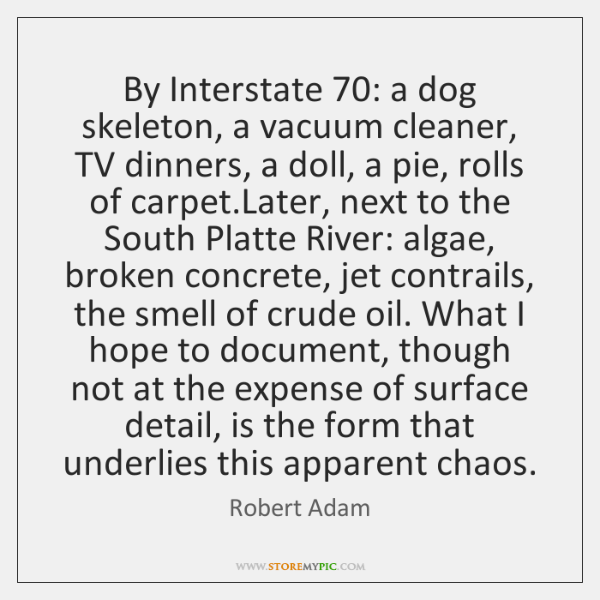 By Interstate 70: a dog skeleton, a vacuum cleaner, TV dinners, a doll, ...