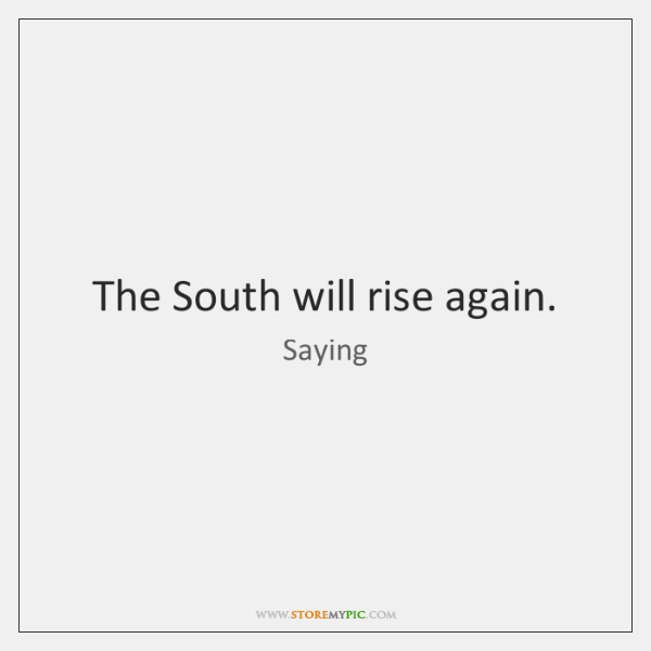 The South Will Rise Again Storemypic