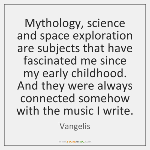 Mythology, science and space exploration are subjects that have fascinated me since ...