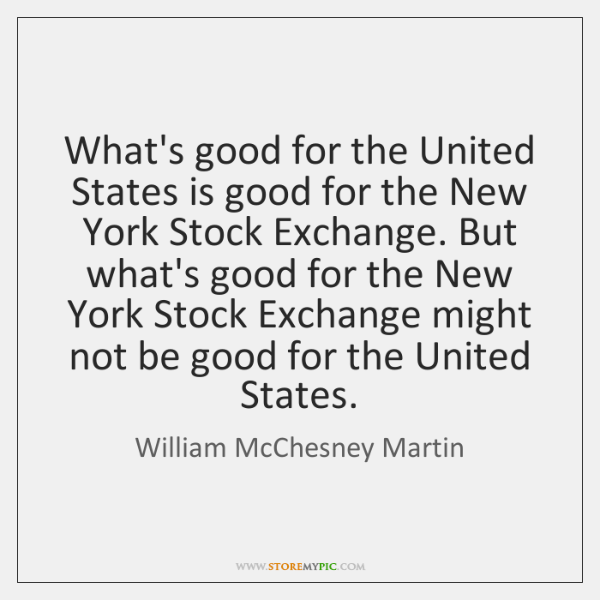 What's good for the United States is good for the New York ...