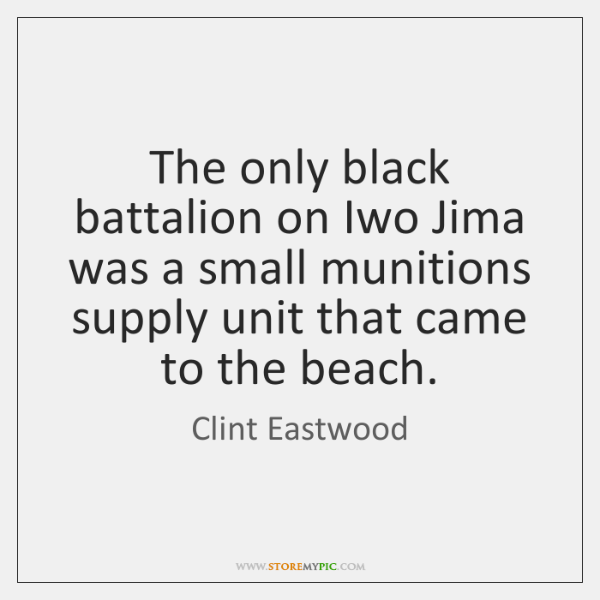 The only black battalion on Iwo Jima was a small munitions supply ...