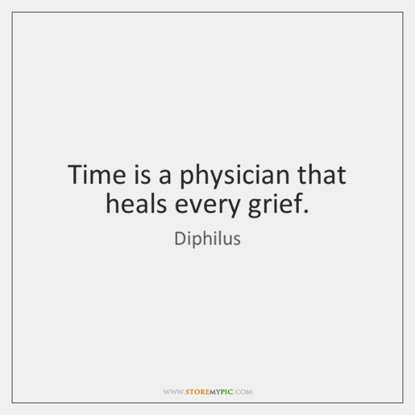 Time is a physician that heals every grief.