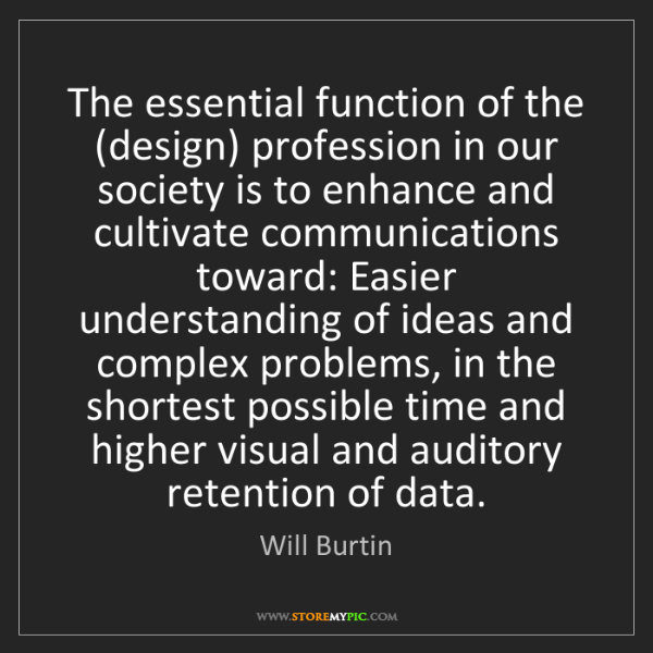 Will Burtin: The essential function of the (design) profession in...