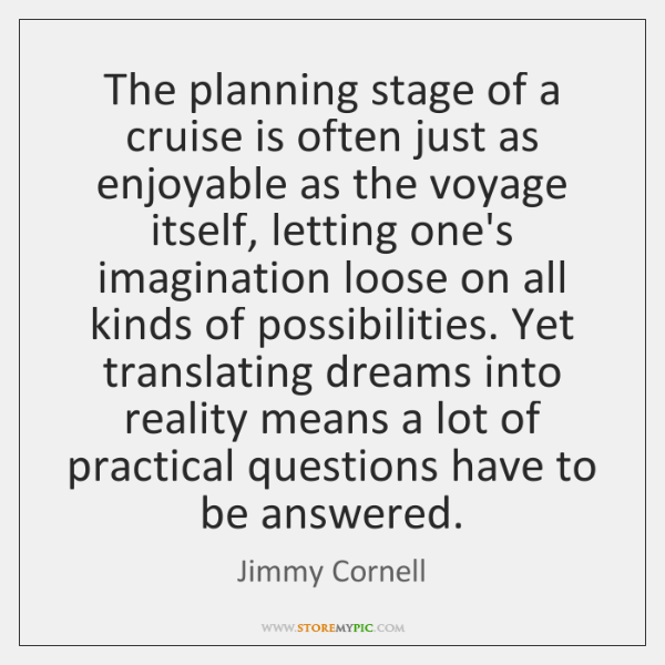 The planning stage of a cruise is often just as enjoyable as ...