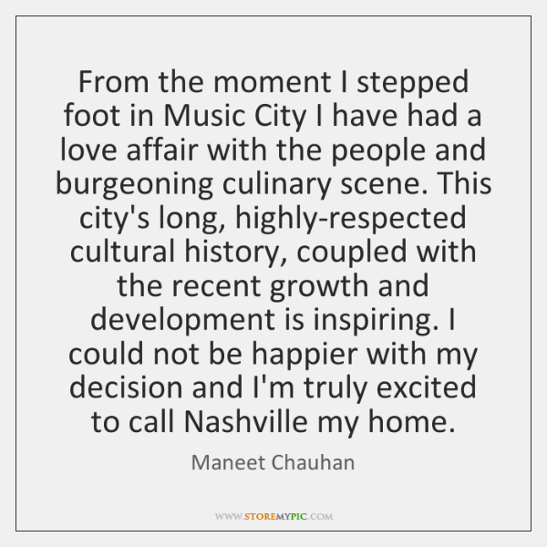 From the moment I stepped foot in Music City I have had ...