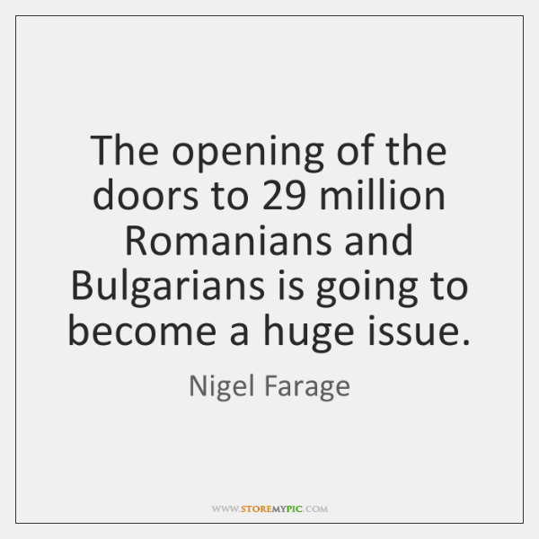 The opening of the doors to 29 million Romanians and Bulgarians is going ...