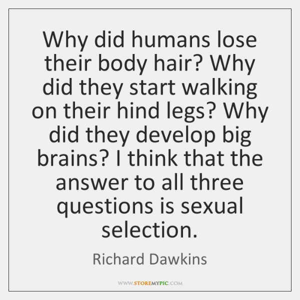 Why did humans lose their body hair? Why did they start walking ...