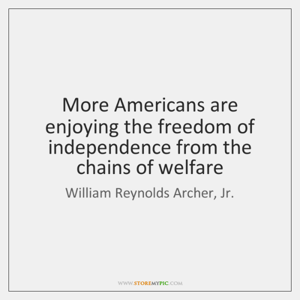 More Americans are enjoying the freedom of independence from the chains of ...