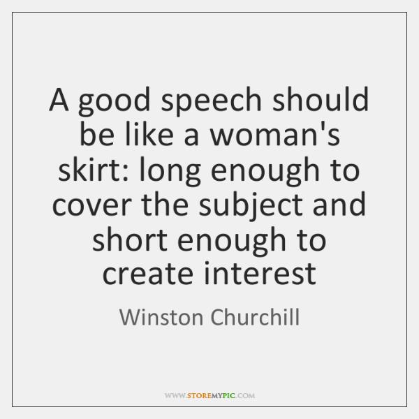 how to create a good speech
