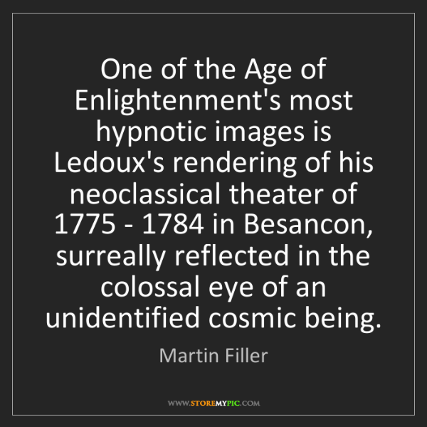 Martin Filler: One of the Age of Enlightenment's most hypnotic images...