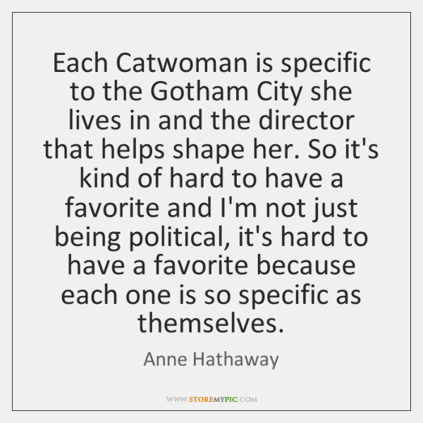 Each Catwoman is specific to the Gotham City she lives in and ...