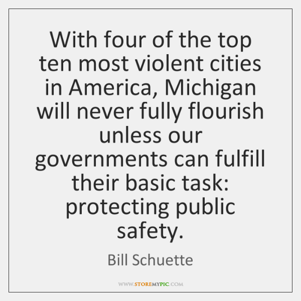 With four of the top ten most violent cities in America, Michigan ...