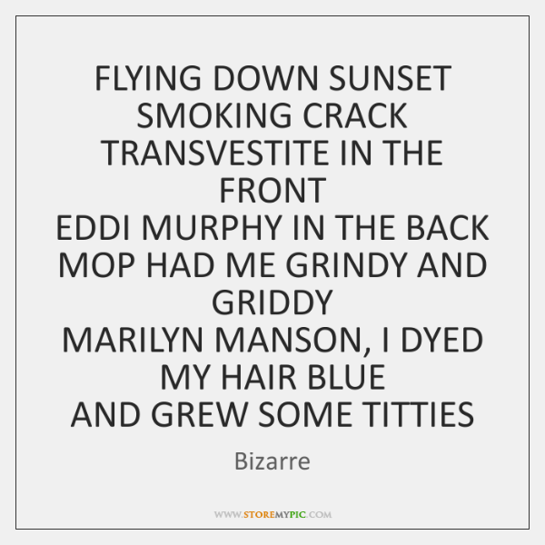 FLYING DOWN SUNSET SMOKING CRACK  TRANSVESTITE IN THE FRONT  EDDI MURPHY IN ...