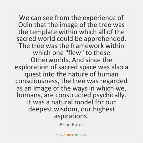 We can see from the experience of Odin that the image of ...