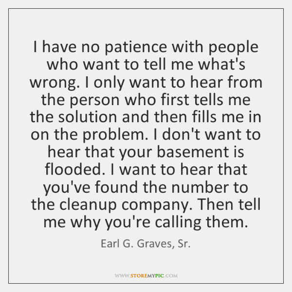 no patience with people