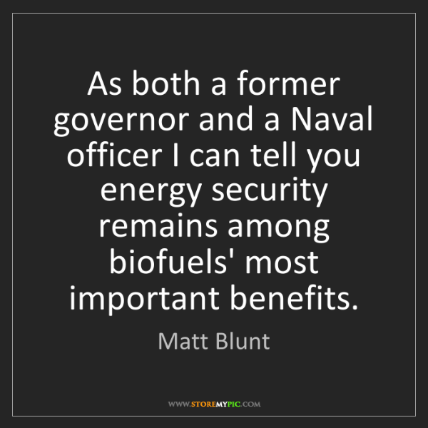 Matt Blunt: As both a former governor and a Naval officer I can tell...