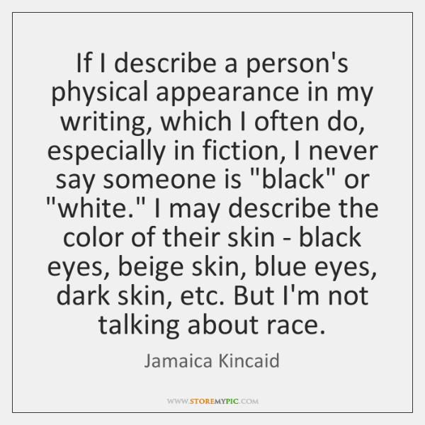 writing describe a person