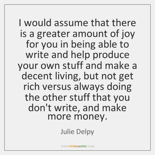 Greater amount joy