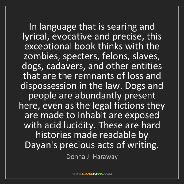 Donna J. Haraway: In language that is searing and lyrical, evocative and...