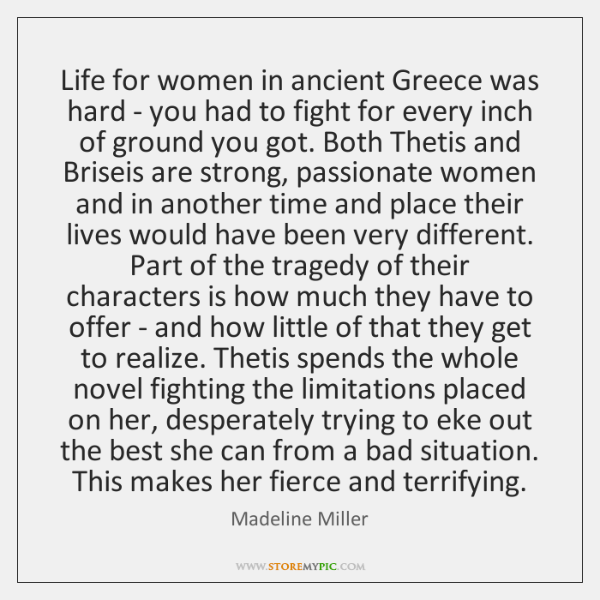 Life for women in ancient Greece was hard - you had to ...