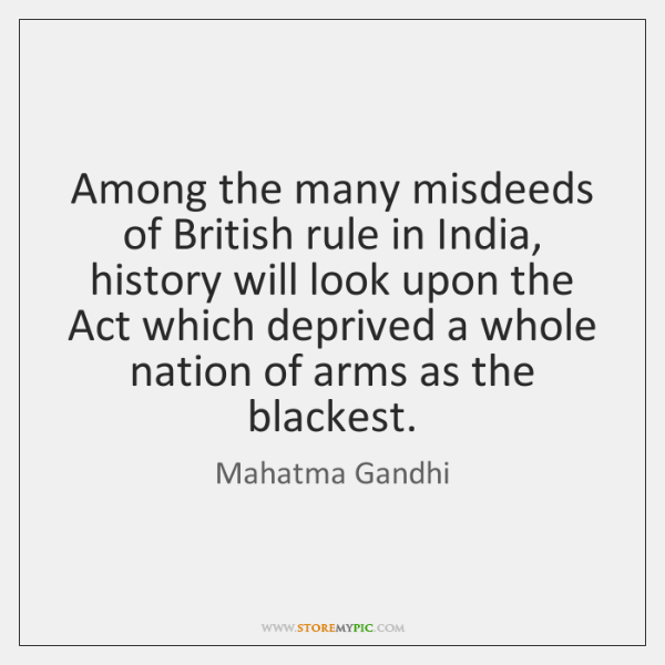 Among the many misdeeds of British rule in India, history will look ...