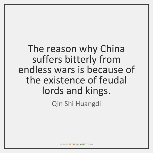 The reason why China suffers bitterly from endless wars is because of ...