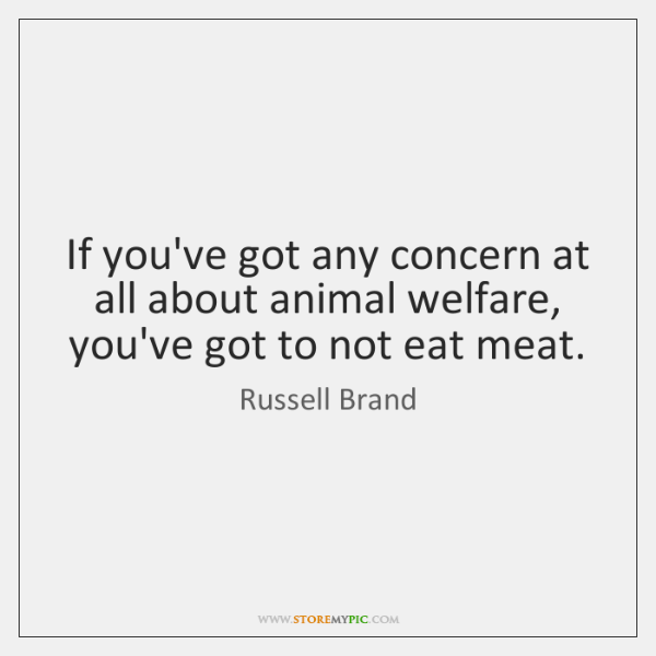 If you've got any concern at all about animal welfare, you've got ...