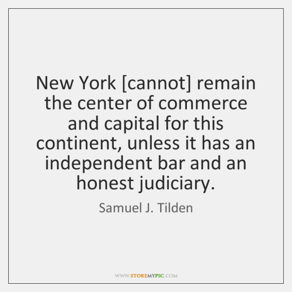 New York [cannot] remain the center of commerce and capital for this ...