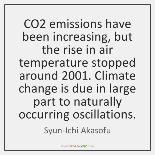 CO2 emissions have been increasing, but the rise in air temperature stopped ...