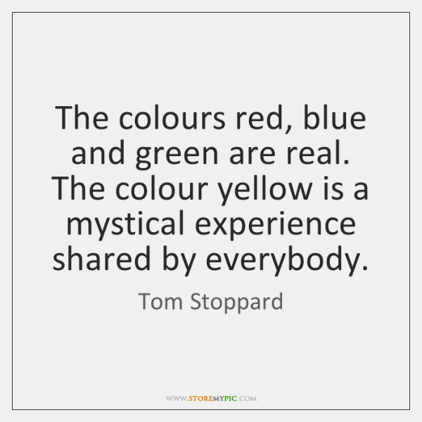 The colours red, blue and green are real. The colour yellow is ...