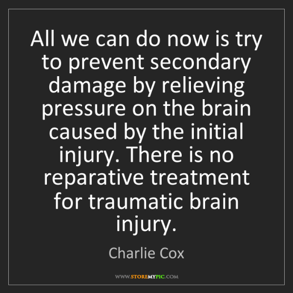 Charlie Cox: All we can do now is try to prevent secondary damage...
